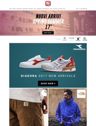 eCommerce website: Move Shop