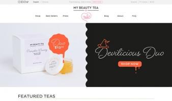 eCommerce website: My Beauty Tea