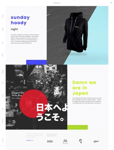 eCommerce website: Nilton Clothing