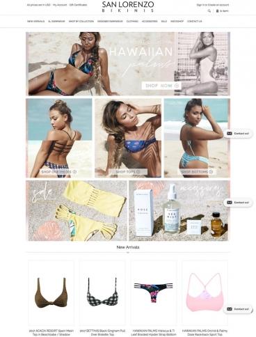 eCommerce website: San Lorenzo Bikinis