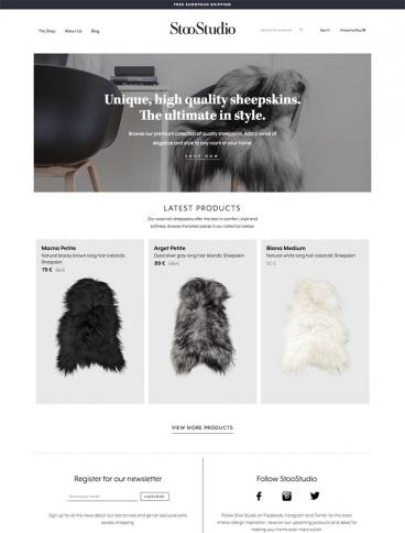 eCommerce website: StooStudio