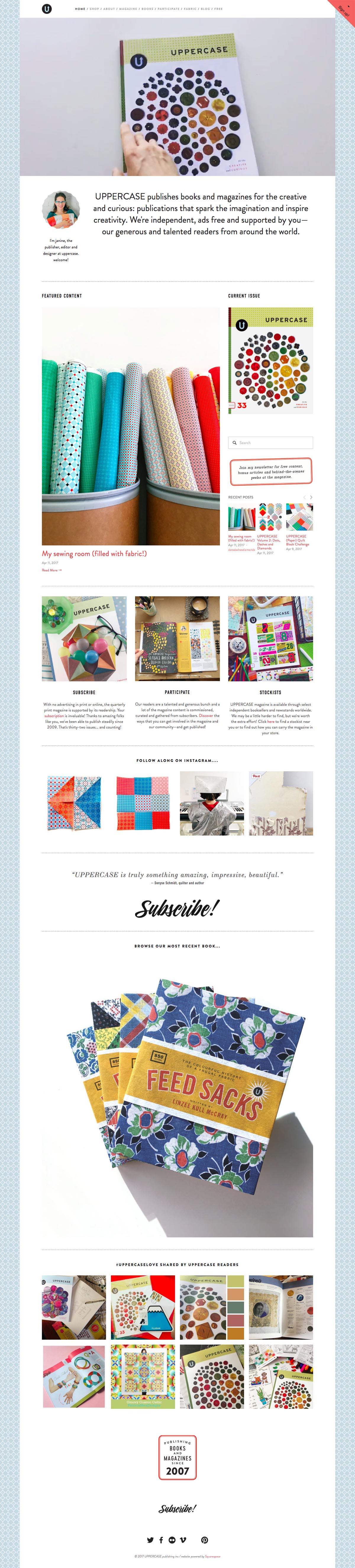 eCommerce website: UPPERCASE