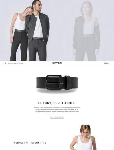 eCommerce website: Upton Belts