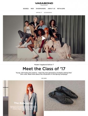 eCommerce website: Vagabond
