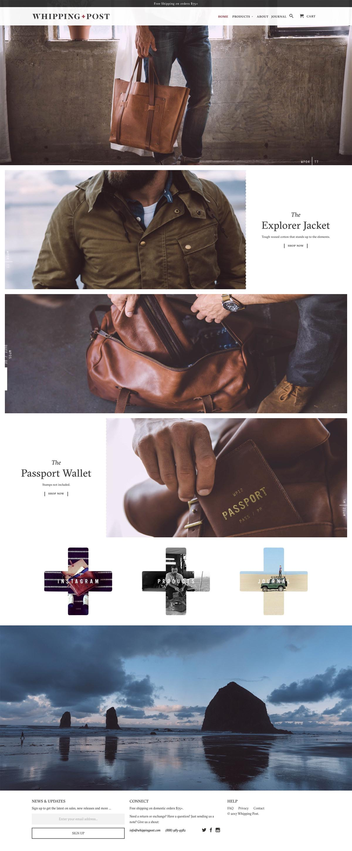 eCommerce website: Whipping Post