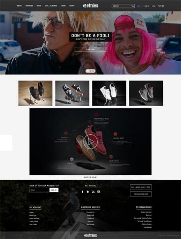 eCommerce website: etnies