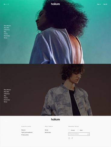 eCommerce website: Haikure