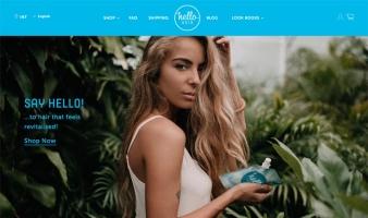 eCommerce website: Hello Hair