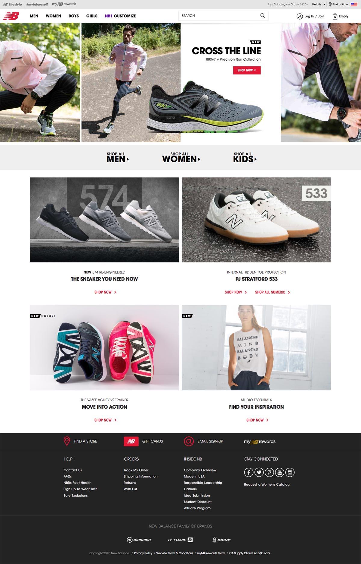 new balance usa website