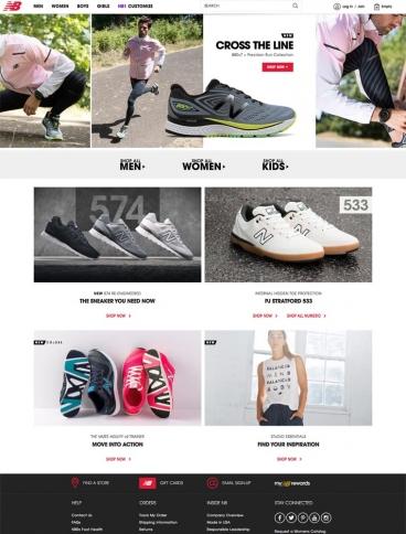 eCommerce website: New Balance