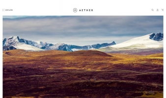eCommerce website: AETHER