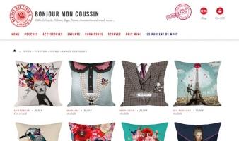 eCommerce website: Bonjour Mon Coussin