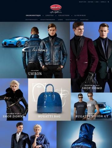 eCommerce website: Lifestyle Bugatti
