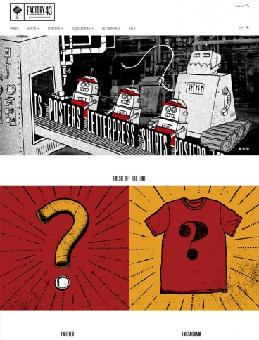 eCommerce website: Factory43