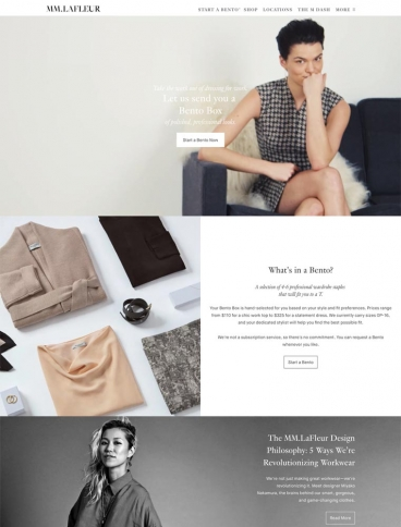 eCommerce website: MM LaFleur