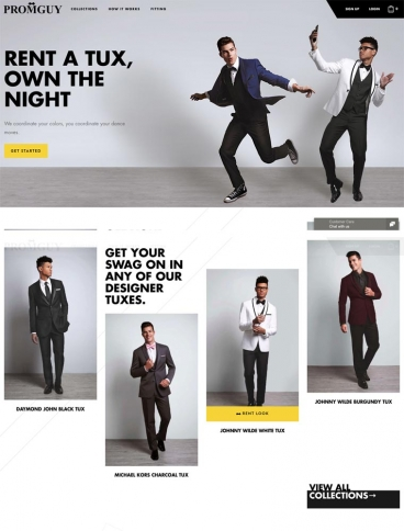 eCommerce website: Prom Guy