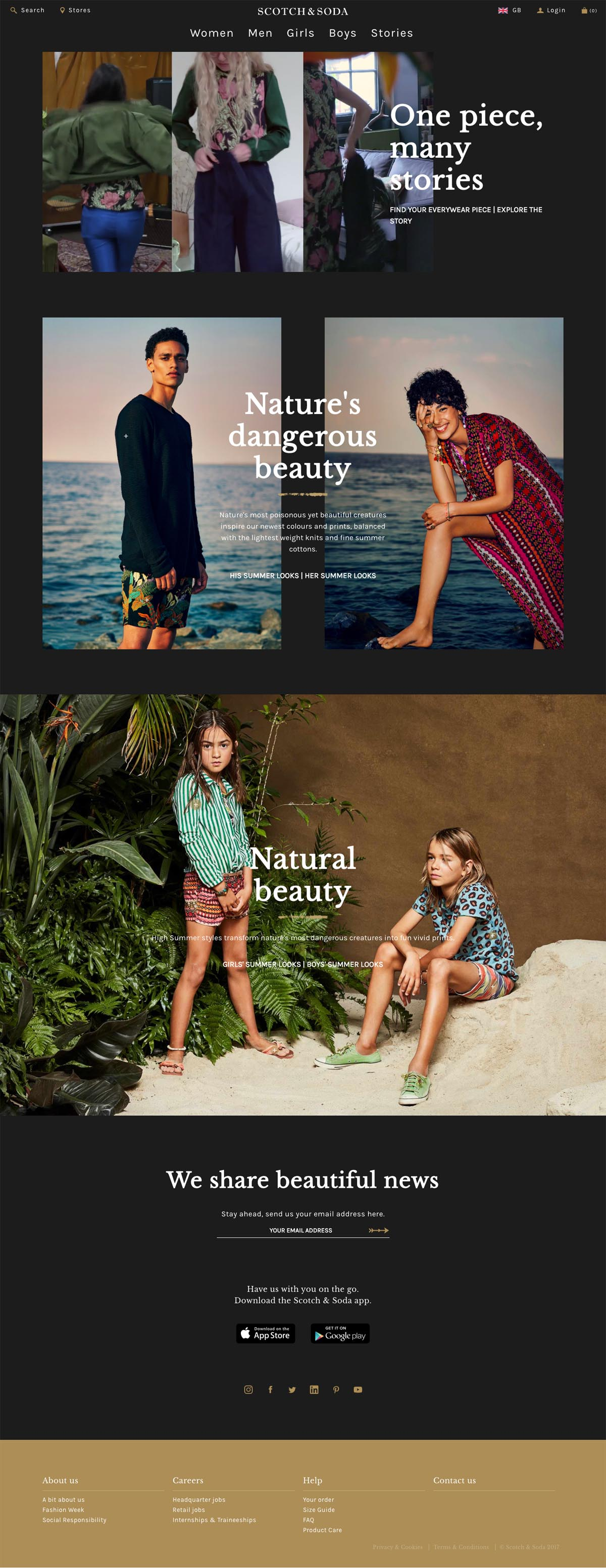 eCommerce website: Scotch and Soda