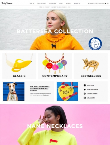eCommerce website: Tatty Devine