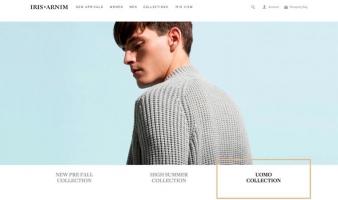 eCommerce website: Iris von Arnim