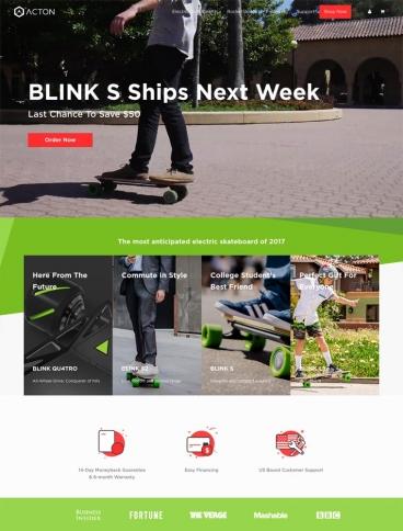 eCommerce website: ACTON