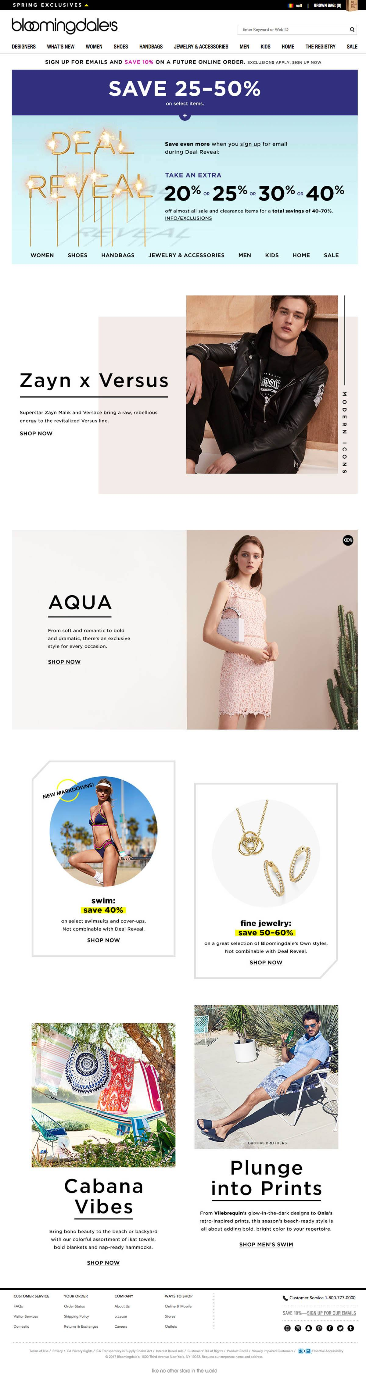 eCommerce website: Bloomingdale's