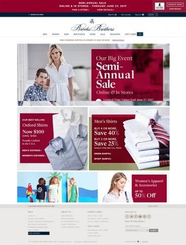 eCommerce website: Brooks Brothers