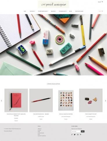 eCommerce website: CW Pencil