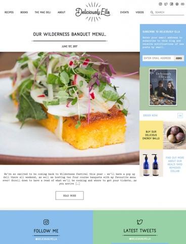 eCommerce website: Deliciously Ella