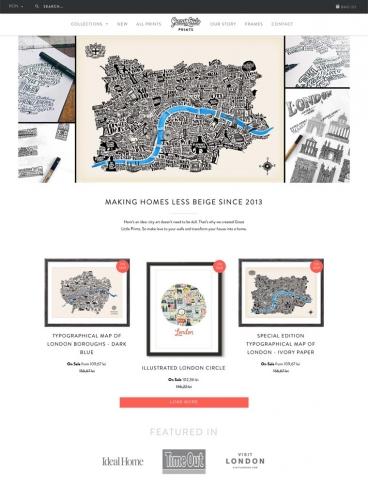 eCommerce website: Great Little Place