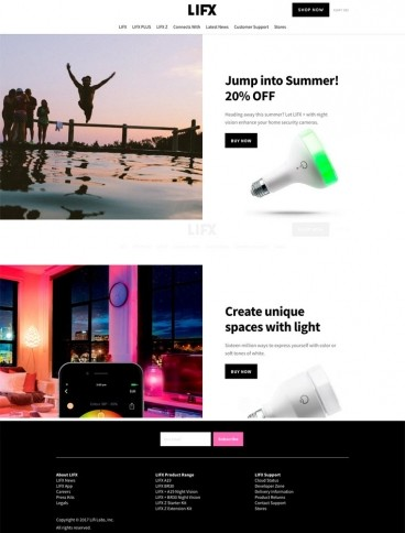 eCommerce website: LIFX