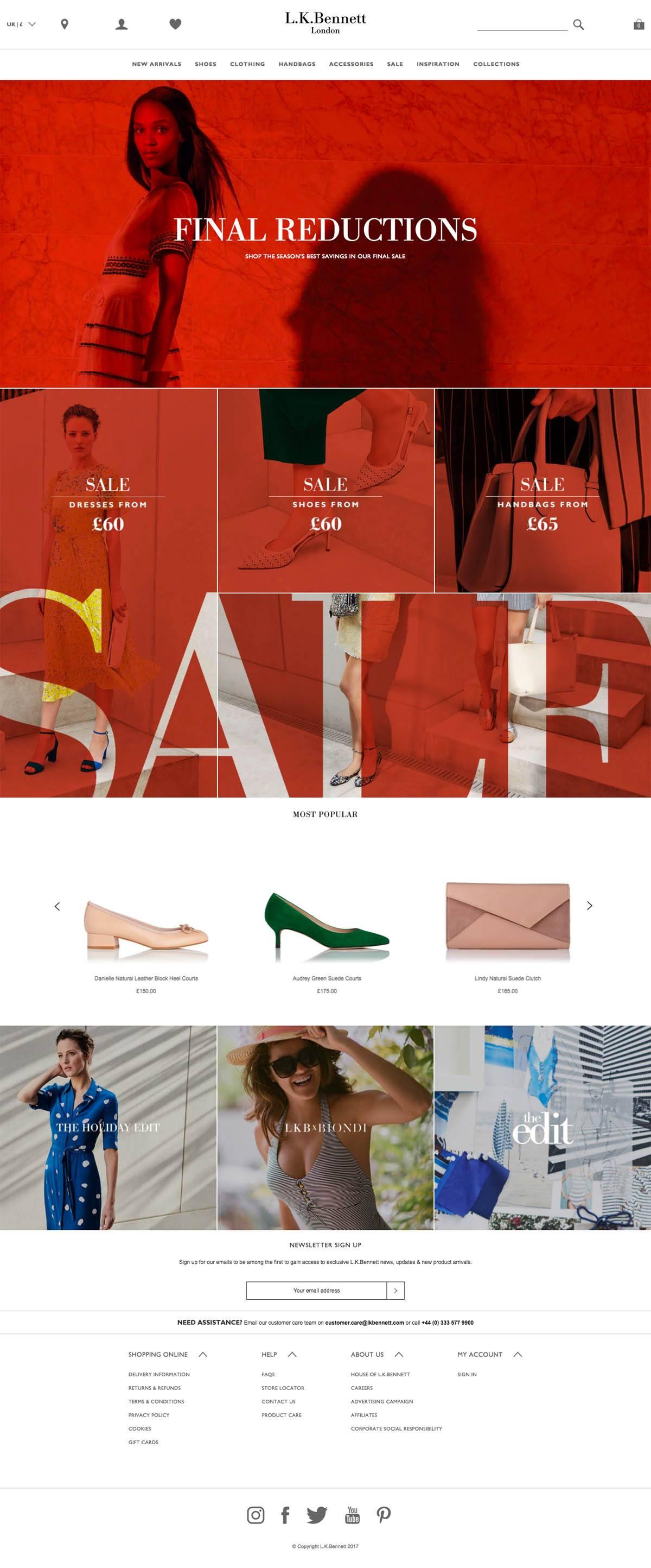 eCommerce website: L.K.Bennett