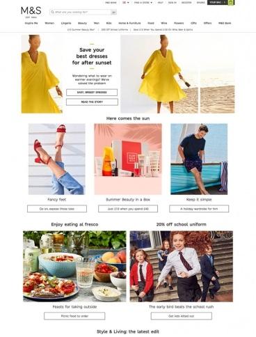 eCommerce website: Marks and Spencer