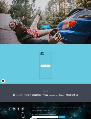 eCommerce website: Phone Loops