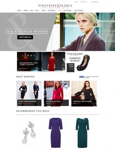 eCommerce website: Pinstripe & Pearls