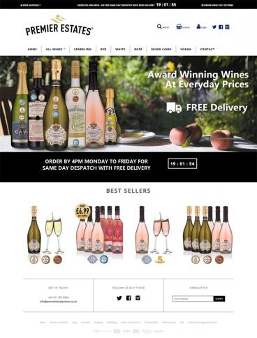 eCommerce website: Premier Estates Wine
