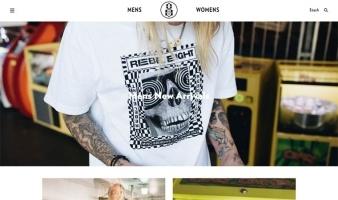 eCommerce website: Rebel8