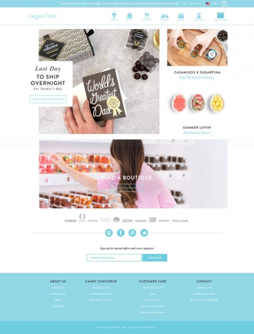 eCommerce website: Sugarfina