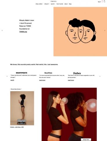 eCommerce website: THINX