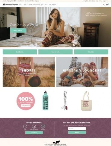 eCommerce website: The Elephant Pants