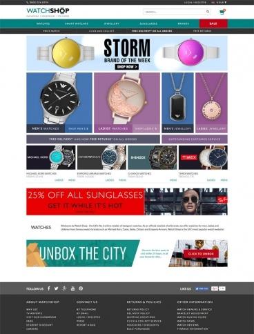 eCommerce website: Watch Shop