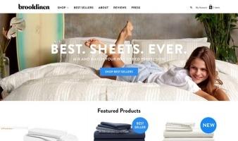 eCommerce website: brooklinen