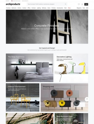 eCommerce website: Archiproducts