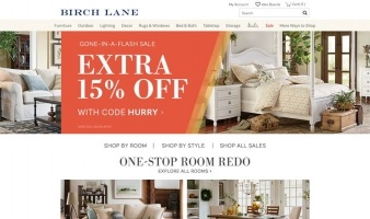 eCommerce website: Birch Lane