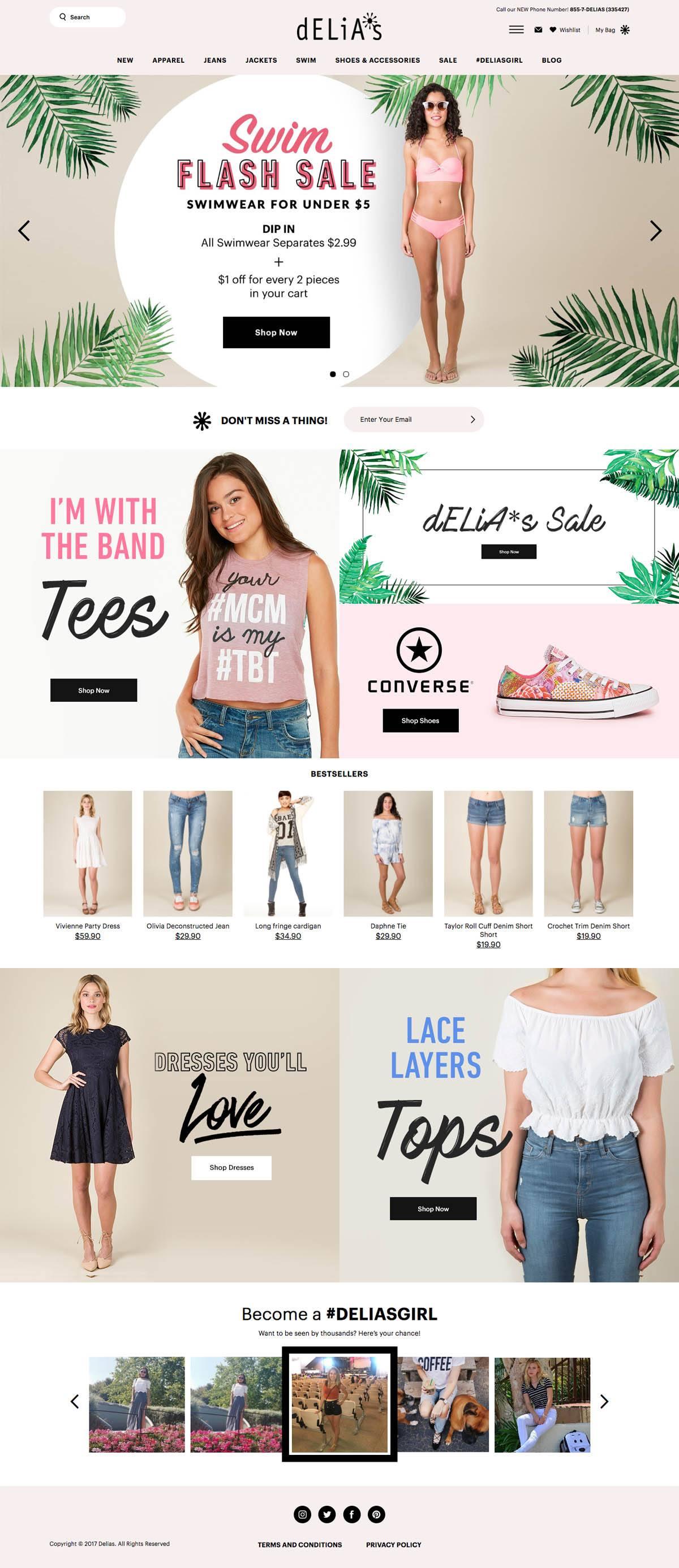 eCommerce website: Delia's