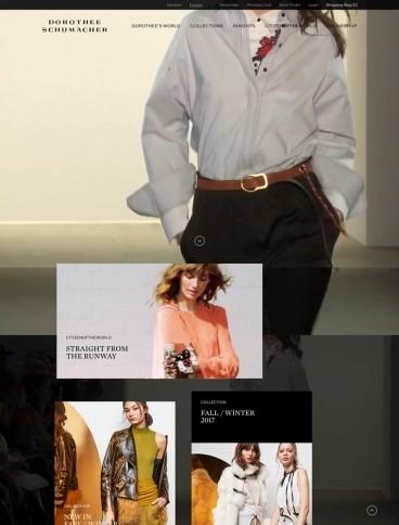 eCommerce website: Dorothee Schumacher