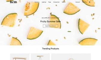 eCommerce website: Hem