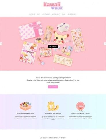 eCommerce website: Kawaii Box