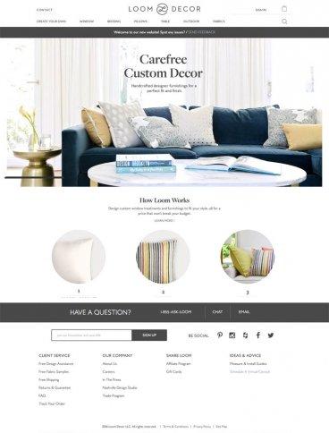 eCommerce website: Loom Decor