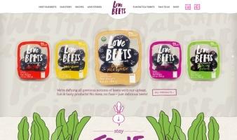 eCommerce website: Love Beets