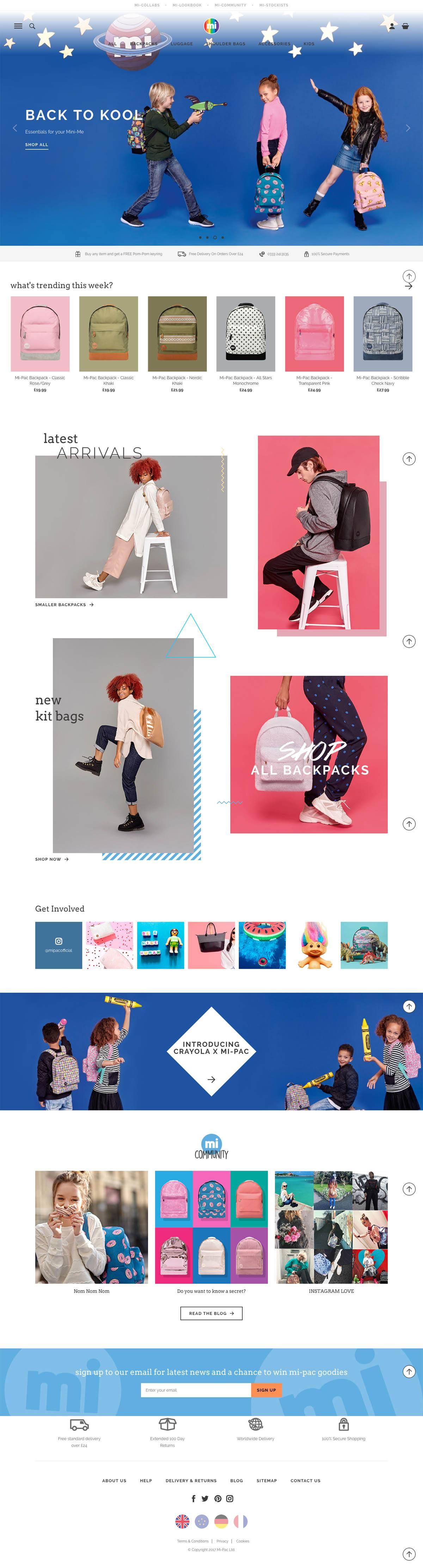 eCommerce website: Mi-Pac